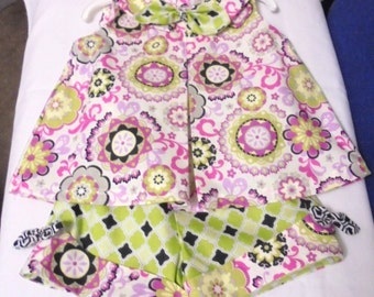 GIRL'S 2-piece Shorts & Top Set-Bright Colors-Easy Care-100% Cotton-New-Sizes 4-8