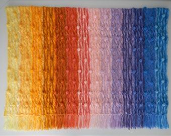 Puffy NOLA Sunset Crochet Afghan Pattern