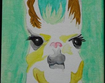 Watercolor postcard 4x6 (pack of 5) Alpaca