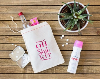Oh Shit Kit bags - Bachelorette Party Favor - Bachelorette Survival Kit - Oh Shit Kit Bachelorette Party - Hangover Kit Bags