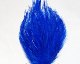 Royal Blue Hackle Feather Pad - Feathers