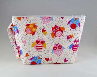 Colorful Owls Makeup Bag - Accessory - Cosmetic Bag - Pouch - Toiletry Bag - Gift