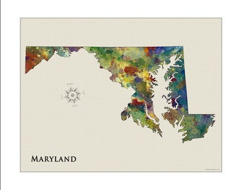 MARYLAND Map, Map of Maryland, Maryland, BALTIMORE, Baltimore Map, Annapolis, ORIOLES, Ravens, Terps, Naval Academy, State Maps