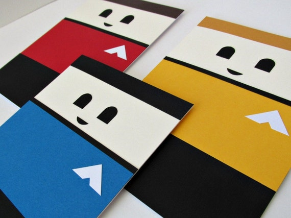 Star trek handmade greeting card set star trek birthday card like this item bookmarktalkfo Image collections