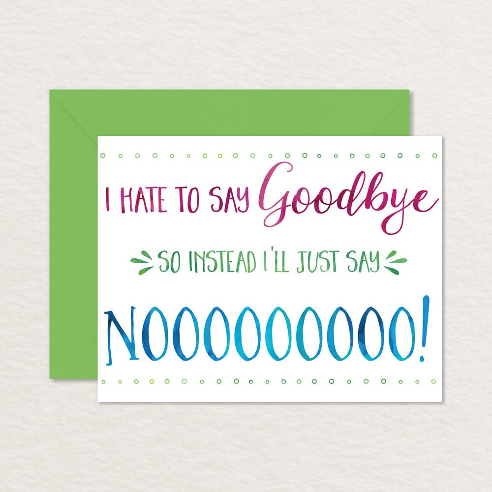 Printable goodbye card funny goodbye card printable zoom kristyandbryce Gallery