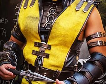 Mortal Kombat Scorpion cosplay costume/Scorpion costume/Cosplay costume for Men/Boys