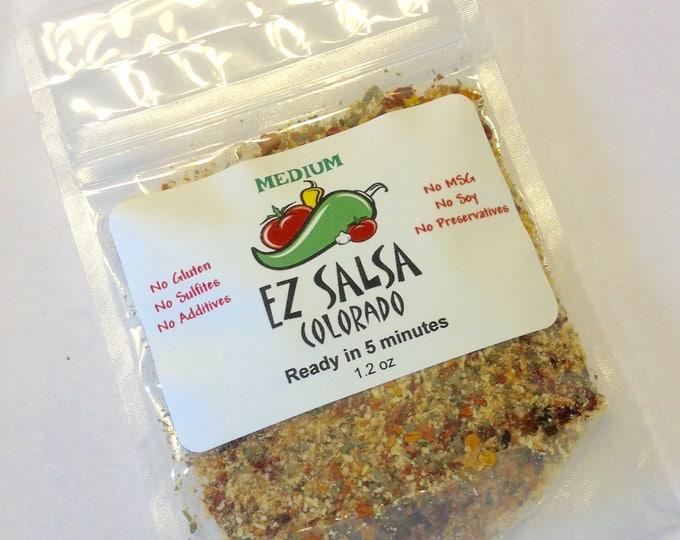 Medium EZ Salsa Organic dry mix.Wild diet & paleo friendly No Soy Vegetarian, Gluten free. Salsa made simple. No preservatives
