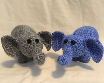 Crocheted Plush Elephant