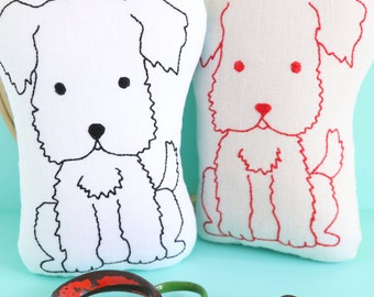 Great Scott: Scottie dog, easy sewing pattern, Scottie embroidery, Scottie dog softie, Scottie dog plush, dog sewing pattern, dog embroidery