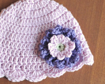 "Crochet Pattern Vintage-Inspired ""Loopsy Daisy Flapper Hat"" Sizes Baby to Adult, with flower directions"