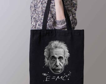 Albert Einstein Tote bag - E=mc2 Bag- Physics Tote Bag - Science Bag- Free shipping worldwide