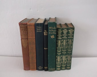 Vintage 8 Shabby Vintage Decorative Books Decoration - 8 Books for a Smaller Space