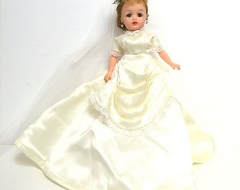"Ideal Little Miss Revlon/ Vintage Blonde Bride Doll with Lingerie, Shoes/ 10 1/2"" Mid Century Fashion Doll"