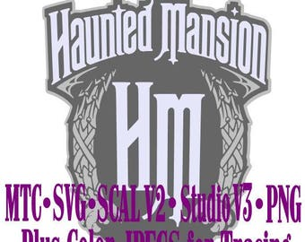 Haunted Mansion Sign #03 Cut Files MTC  SVG File Format with B&W traceable JPEG