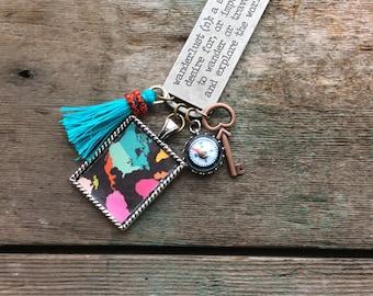 Wanderlust Necklace, Long Necklace, Travel Necklace, Boho Jewelry