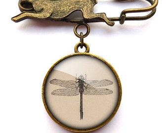 Vintage Dragonfly Hare Pin Brooch (ER03)