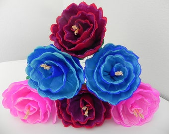 Mexican paper flowers set of 6 multicolor we make mexican paper flowers set of 6 multicolor we make special orders 012 mightylinksfo