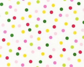 Garden Dot Fabric - Remix by Ann Kelle from Robert Kaufman. Hot pink, yellow, lime and green. 100% cotton. AAK-12136-238
