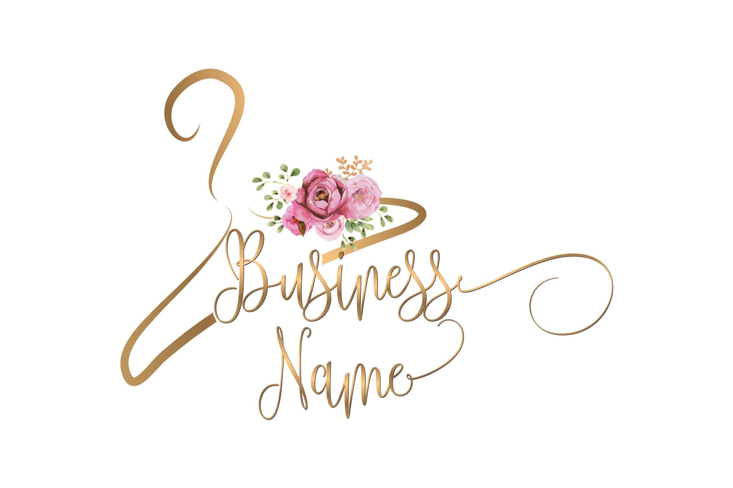 Custom Logo Design Clothes Hanger Logo Fashion Hanger Logo