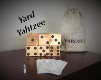 Yard dice, set of 6 ~Yardzee~Farkle~Lawn Dice