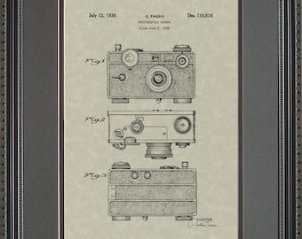 Camera Patent Artwork Photographer Gift F0516