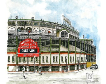 Chicago Wrigley Field. Home of the Cubs. 2016 World Series Champions.