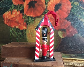 Toy Soldier Ornament Vintage Christmas Holiday Gift Home Decor Wooden Gaurd