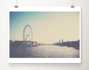 london photograph london print london decor big ben photograph river thames photograph houses of parliament photograph london art