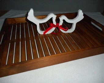 Wedding collection tray with a pair of doves
