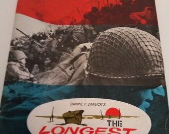 Darryl F. Zanuck's The Longest Day 1960 Movie Souvenir Program Pressbook