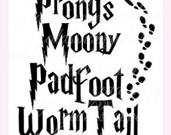 Marauders Svg -  Prongs Moony Padfoot Wormtail - Svg -Cricut - Silhouette  -Instant Download  - Digital File  - Scrapbooking -  Cut File