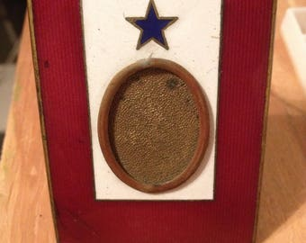 Vintage WWI enamel photo frame 1918