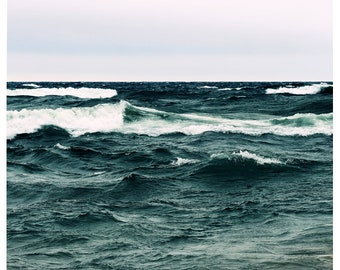 Beach Photograph - Nature Photograph - Beach Art - Frenzy - Ocean Art - Waves Photograph - Beach Print - Coastal Decor - Oversized Art