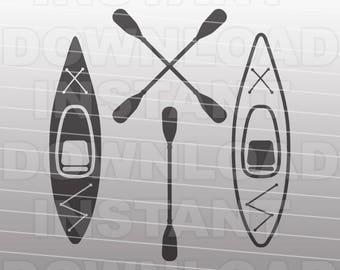 Kayak SVG File,Kayaker SVG,Kayak Paddle SVG -Commercial & Personal Use- Vector Art svg for Cricut,Silhouette Cameo,vinyl design,htv