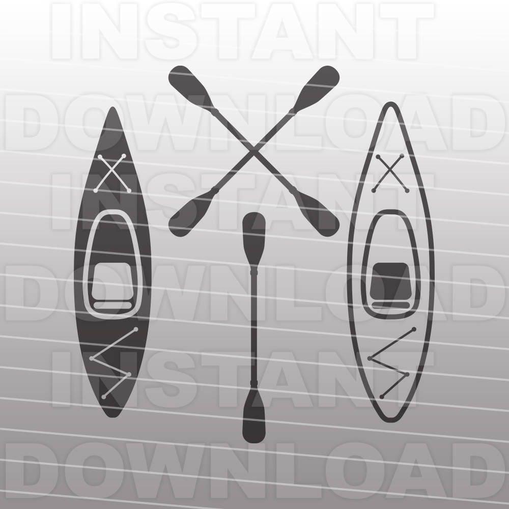 Download Kayak SVG FileKayaker SVGKayak Paddle SVG Commercial