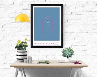 The Bell Jar Poster (based on the Sylvia Plath novel)