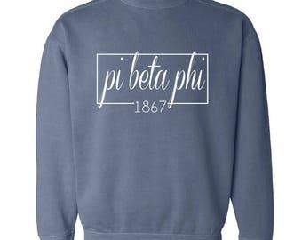 Pi Beta Phi // Pi Phi // Sweatshirt (Coneria) // Choose Your Color