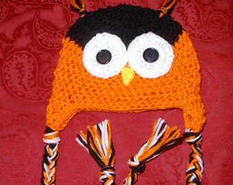 crochet halloween owl hat, baby, newborn, fall, photo prop