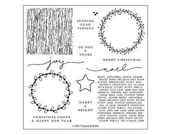 Concord and 9th - Christmas - Clear Acrylic Stamps - Joyful Noel