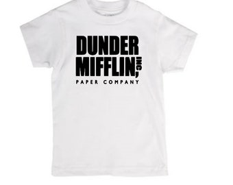 Dunder Mifflin Paper Company The Office Infant Kids Toddler Youth Children T Shirt Many Sizes Colors Custom Jenuine Crafts