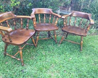 Ethan Allen Mates Chairs (Set of 3)
