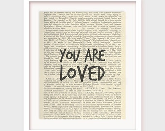You Are Loved, Love Print, Love Wall Decor, Gift for Wife, Gift for Husband, Gift for Girlfriend, Gift for Boyfriend, For Him For Her Poster