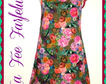 "LAST dress ""ESMERALDA"" flowers, romantic, 38"