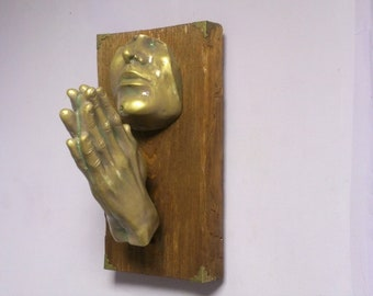Sculpture Wall Decor Interior Design Prayer