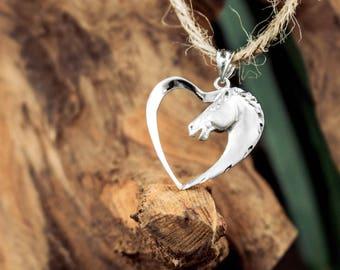 Horse Heart Necklace Pendant