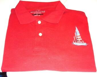 Men's American Sailboat polo shirt.