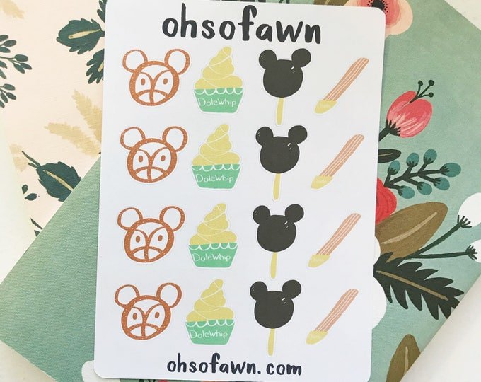 Disney Treat Hand Drawn Stickers