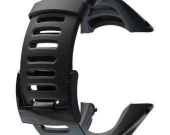 For Suunto Ambit1 Peak Ambit2 Ambit3 Black Silicone Elastomer Replacement Strap Watch Band