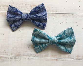 Dog Bow Tie blue/green