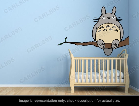 Captivating Totoro Inspired Totoro Tree Wall Art Applique Sticker